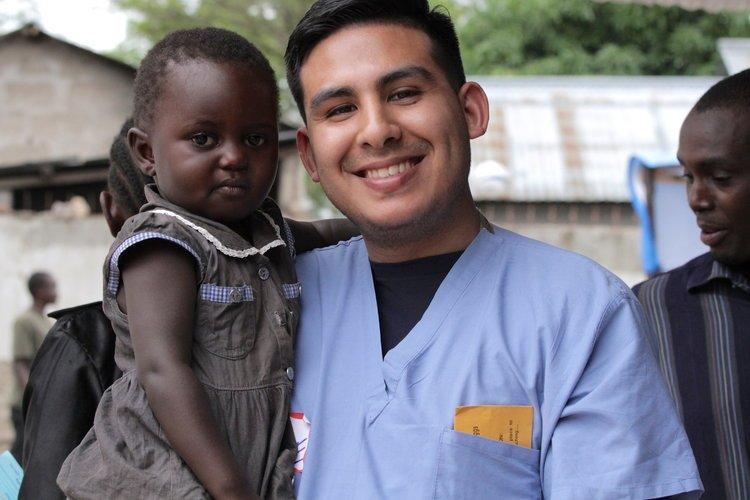 Mission Trip Nurse and Child